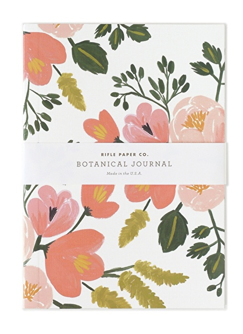 Rifle Paper Co. Botanical Defter-Rose  Renkli